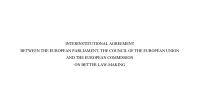 Interinstitutional Agreement on Better Law-Making 2016