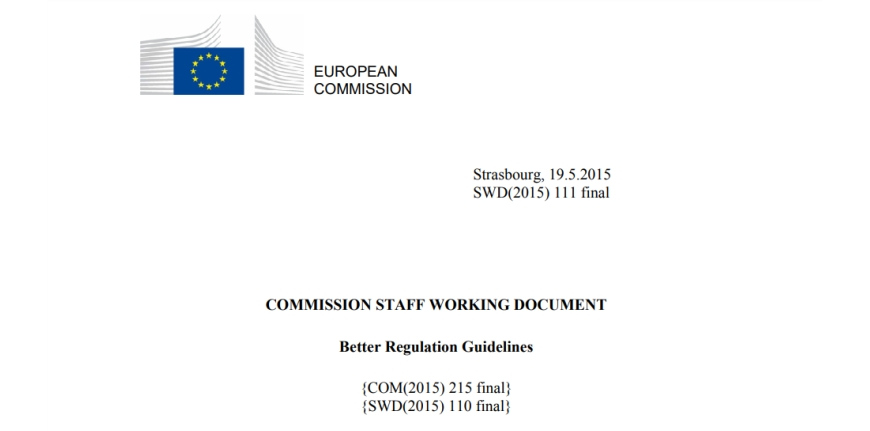 Better Regulation Guidelines 2015